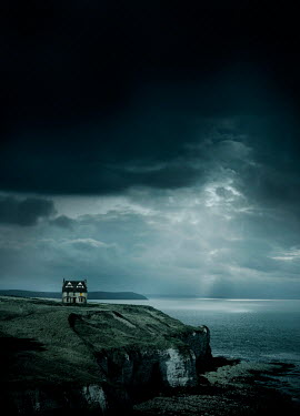 Stephen Mulcahey OLD HOUSE BY SEA WITH STORMY SKY