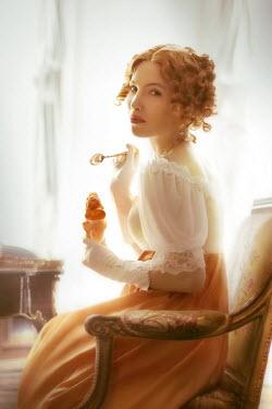 ILINA SIMEONOVA REGENCY WOMAN EATING ICE CREAM INDOORS