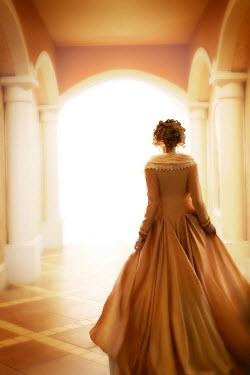 ILINA SIMEONOVA HISTORICAL WOMAN WALKING IN GRAND HALLWAY