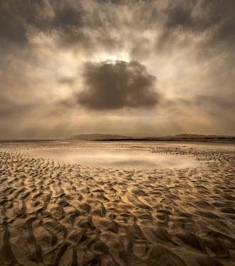 Adrian Leslie Campfield EMPTY SANDY BEACH WITH CLOUD