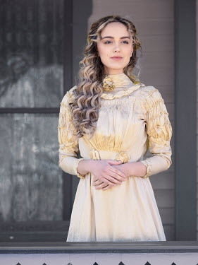 Elisabeth Ansley BLONDE HISTORICAL WOMAN ON VERANDA