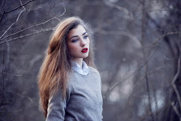 Tijana Moraca SERIOUS GIRL WITH MAKE UP IN FOREST