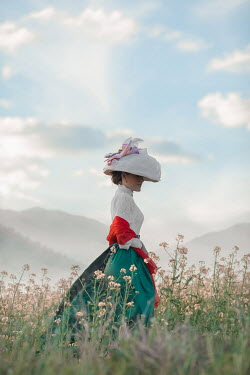 Ildiko Neer Historical woman standing in meadow