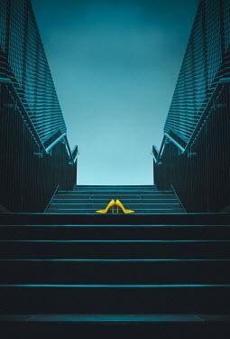 Joanna Czogala YELLOW STILETTOS ON STEPS IN UNDERPASS