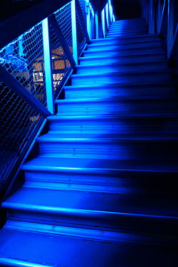 Ute Klaphake METAL STEPS AT NIGHT WITH BUE LIGHT