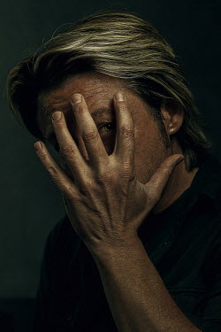 Ysbrand Cosijn SCARED MAN COVERING FACE WITH HAND