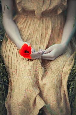 Ildiko Neer Young woman holding poppy