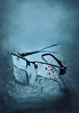 Lyn Randle GLASSES WITH BLOODSTAINS
