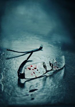 Lyn Randle BROKEN GLASSES WITH BLOODSTAINS
