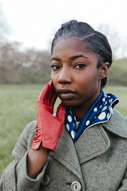 Matilda Delves BLACK RETRO WOMAN WITH IN COUNTRYSIDE