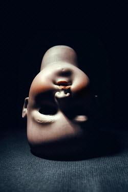 Magdalena Russocka head of porcelain vintage doll in shadow