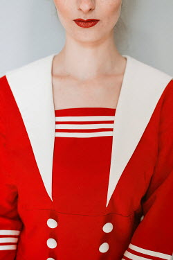 Shelley Richmond WOMAN IN RED SAILOR DRESS