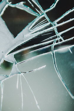 Isabelle Lafrance CLOSE UP OF BROKEN MIRROR