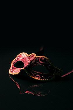 Magdalena Russocka carnival mask on black background