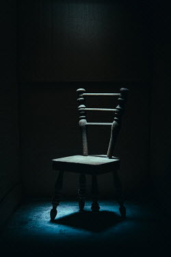 Magdalena Russocka miniature chair in shadowy room