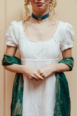 Matilda Delves REGENCY WOMAN WITH WRAP AND CHOKER