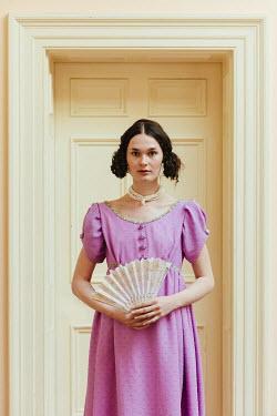 Matilda Delves REGENCY WOMAN WITH FAN BY DOORWAY