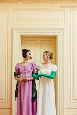 Matilda Delves TWO REGENCY WOMEN STANDING BY DOORWAY