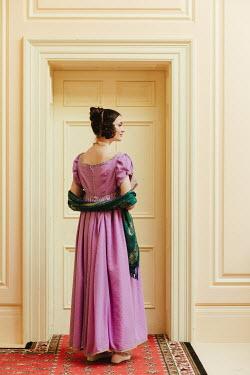 Matilda Delves BRUNETTE REGENCY WOMAN STANDING BY DOORWAY