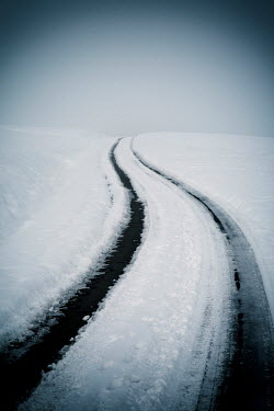 Carmen Spitznagel EMPTY COUNTRY ROAD IN SNOW