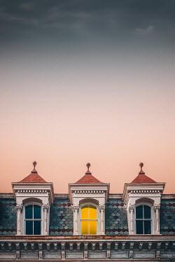 Evelina Kremsdorf LIGHT IN ATTIC WINDOW OF HISTORICAL BUILDING