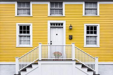 Evelina Kremsdorf YELLOW WEATHERBOARD HOUSE WITH STEPS