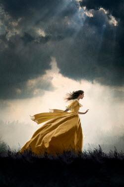 Lee Avison historical woman running at night