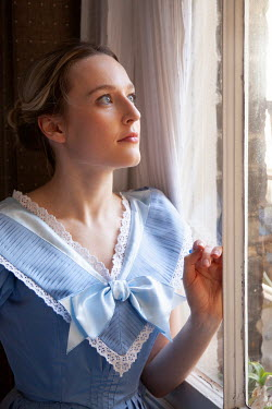 Miguel Sobreira BLONDE HISTORICAL WOMAN INDOORS BY WINDOW