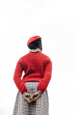 Matilda Delves RETRO WOMAN IN RED BERET AND SWEATER