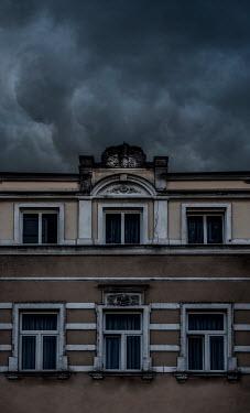 Jaroslaw Blaminsky HISTORICAL BUILDING WITH STORMY SKY