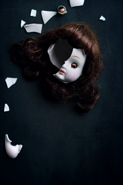 Maria Petkova BROKEN HEAD OF DOLL WITH BROWN HAIR