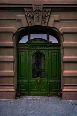 Jaroslaw Blaminsky GREEN DOORWAY OF GRAND BUILDING