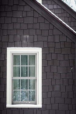 Jean Ladzinski WINDOW IN BROWN HOUSE WITH SNOW