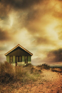 Nic Skerten SMALL CHALET BY SAND DUNES AND SEA