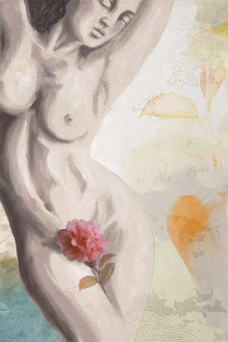 Mark Owen NAKED WOMAN WITH FLOWER