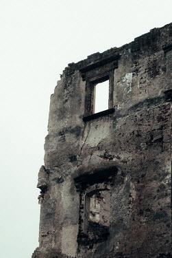 Joanna Jankowska RUINED WALL OF BUILDING WITH WINDOWS