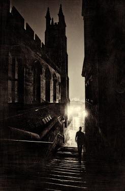 Laurence Winram FIGURE WALKING IN CITY STREET