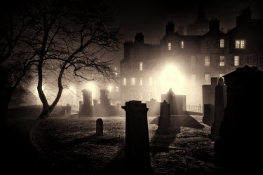 Laurence Winram CEMETERY IN CITY AT NIGHT
