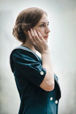 Natasza Fiedotjew Close up of worried vintage woman