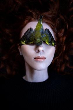 Natasza Fiedotjew Dead bird covering eyes of modern woman