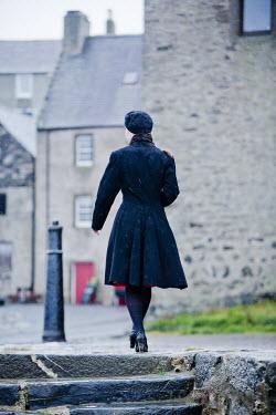 Laurence Winram 1940'S WOMAN WALKING IN VILLAGE