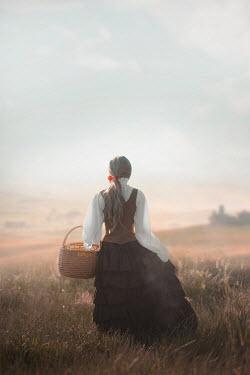 Ildiko Neer Historical woman standing countryside