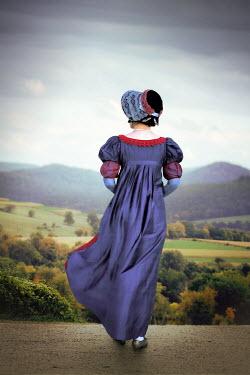 ILINA SIMEONOVA REGENCY WOMAN WITH BONNET ON COUNTRY ROAD