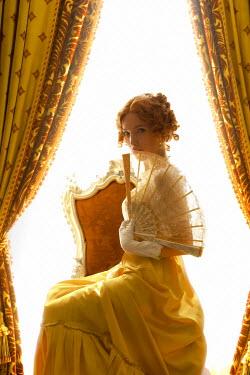 ILINA SIMEONOVA REGENCY WOMAN WITH FAN SITTING BY WINDOW