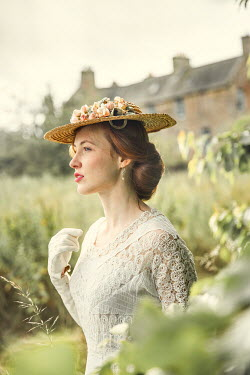 Laurence Winram Young Victorian woman in straw hat