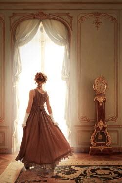 ILINA SIMEONOVA HISTORICAL WOMAN STANDING IN GRAND INTERIOR