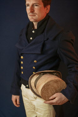 Shelley Richmond SERIOUS HISTORICAL MAN HOLDING HAT