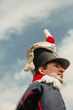 Shelley Richmond MAN IN HISTORICAL BRITISH ARMY UNIFORM OUTDOORS