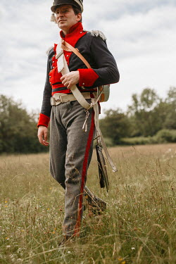 Shelley Richmond HISTORICAL SOLDIER WALKING IN COUNTRYSIDE