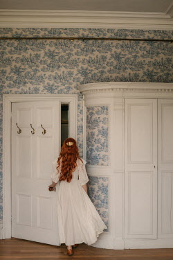 Rebecca Stice WOMAN WITH RED HAIR LEAVING ROOM